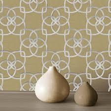 muriva marrakesh geometric silver gold metallic wallpaper 701371