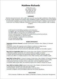 Sample Resume For Construction Superintendent by Construction Superintendent Resume Can Be In Simple Design But It