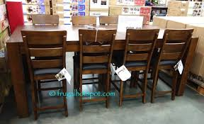 9pc dining room set universal broadmoore 9 piece counter height dining set costco