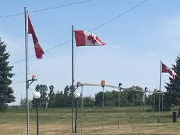 American Flag Upside Down Caledon Man Angers Veterans By Flying Canadian Flags Upside Down