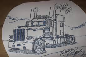 truck drawings truckmodshop semi truck drawings pinterest