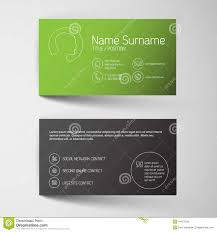 modern green business card template with simple graphic stock