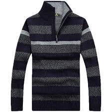 wholesale sweaters 2018 wholesale sweater with zipper mens striper sweaters autumn