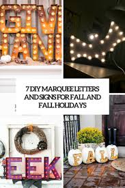 7 diy marquee letters and signs for fall and holidays shelterness