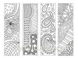 zendoodle bookmarks diy zentangle inspired printable