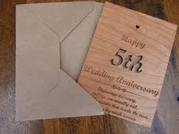 5th wedding anniversary ideas wooden 5th wedding anniversary card personalised gifts