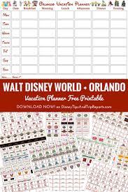 walt disney world orlando vacation planner free printable