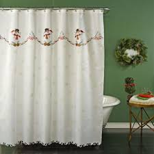 Snowman Curtains Kitchen Christmas Bath Decor Christmas Shower Curtains Holiday Bath