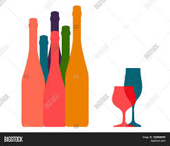 wine vector background bottle ilustration vector u0026 photo bigstock