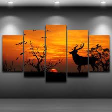 Wohnzimmer Bild Modern Online Kaufen Großhandel Gerahmte Deer Bilder Aus China Gerahmte