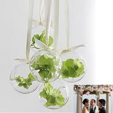 idee deco pour grand vase en verre vase suspendu en verre transparent boule pour plantes fleurs