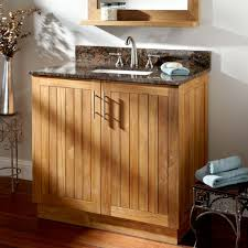 Teak Vanity Bathroom by 34