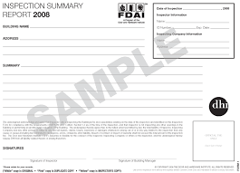 Field Inspection Report Template by Dhi