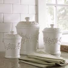kitchen flour canisters ceramic kitchen canister set white ivory counter coffee sugar