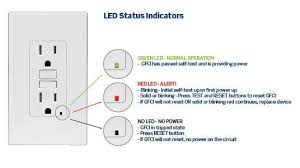 gfci receptacle with indicator light leviton gfnt1 w self test smartlockpro slim gfci non ter