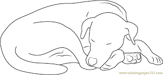 dog coloring pages online let sleeping dog coloring page free dog coloring pages