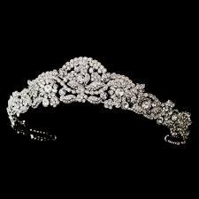 bridal tiara antique bridal tiara ophelia silver rhinestone princess wedding crown