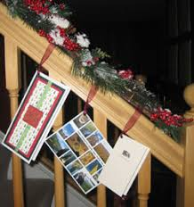 displaying holiday greeting cards unclutterer