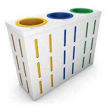 poubelle bureau zermatt poubelle de tri sélectif pour bureau 3 compartiments