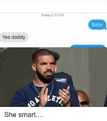 Yes Meme Baby - today 232 pm baby yes daddy ler she smart meme on me me