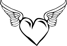 heart wings coloring coloring
