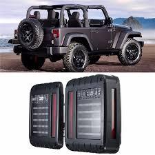 jeep wrangler backup lights 2x led tail lights car running brake turn signal reverse backup