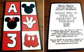 mickey mouse party invitations two sisters crafting