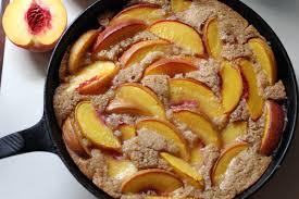 skillet peach cobbler whole grain the kitchen garten