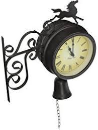 Outdoor Pedestal Clock Thermometer Amazon Com Outdoor Clocks Patio Lawn U0026 Garden