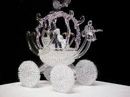 cinderella coach custom blown glass cinderella coach wedding cake top thirty five