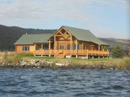 yellowstone lakefront luxury log home homeaway island park