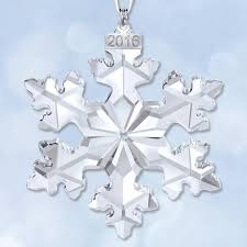 2016 swarovski annual snowflake ornament sterling