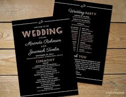 deco wedding program chalkboard deco printable wedding program by