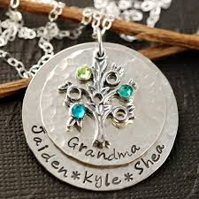 grandmother jewelry family tree grandmother necklace sted necklace