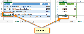 excel compare two tables find only matching data merge data in excel using non exact match partial match