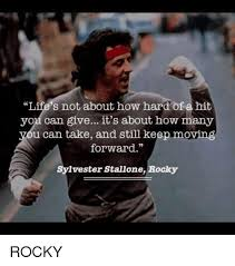 Rocky Meme - memes rocky and sylvester stallone life s not about how hard of