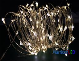 micro mini led lights on copper wire silver wired for
