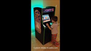 Galaga Arcade Cabinet Kid Size Custom Made Galaga Arcade Half Scale Child Size By Custom