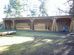 Setting Pole Barn Posts Pole Building Open Shed Project Plan 85946 Homesteading