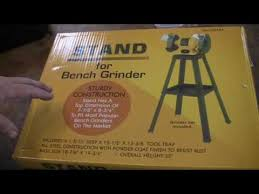 Harbor Freight Bench Grinder Stand Harbor Freight 8 In Grinder W Stand Set Up Assembly Youtube
