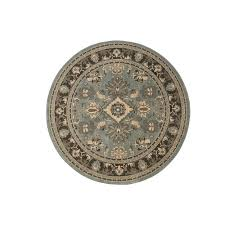 area rugs home decorators home decorators collection charisma green slate 8 ft round area