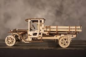 wooden truck channeldistribution ugears wooden model kit truck ugm 11