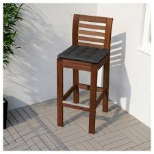 out door bar stools äpplarö bar stool with backrest outdoor brown stained ikea