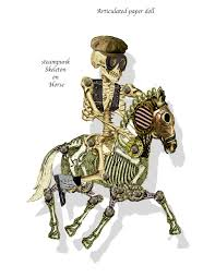 horse skeleton halloween printable halloween paper skeleton with horse printable gothic