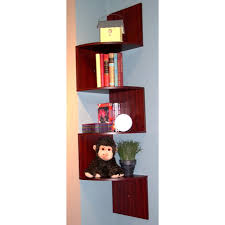 Staggered Bookshelves by Or Cherry Corner Staggered Shelf
