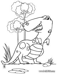 rex spinosaurus coloring pages water dinosaur big