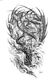 dragon dream catcher fighting phoenix and dragon tattoo design tattoobite com