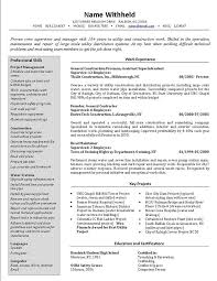 Construction Job Description Resume by Best Resume Example Best Resumes Examples Resume Example And