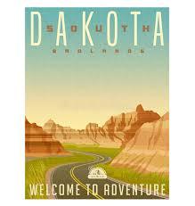 South Dakota adventure travel companies images South dakota badlands travel poster or sticker stock vector jpg