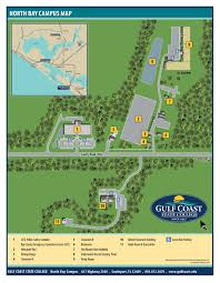 Map Of Panama City Beach Florida by Gulf Coast State College Campus Maps